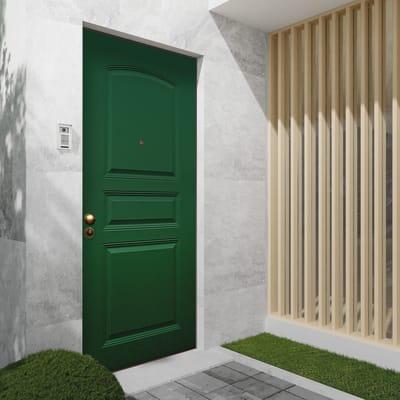 Porta blindata Aluminium verde L 90 x H 210 cm destra