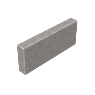Cordolo in calcestruzzo grigio Bordura Liscia Grigia L 50 x H 20 cm Sp 5 cm