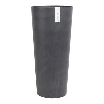 Vaso Amsterdam ECOPOT'S in composito colore dark grey H 70 cm, Ø 32 cm