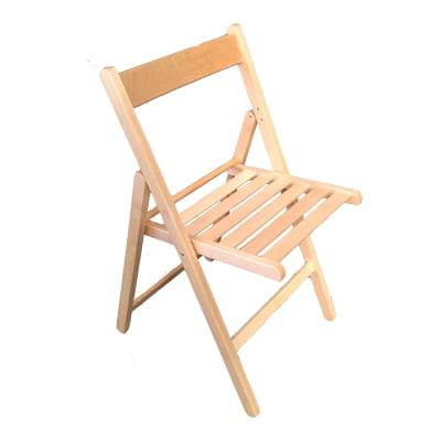 Sedia da giardino con cuscino in legno colore faggio