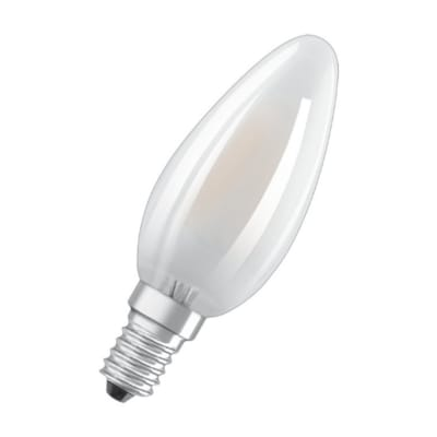 Lampadina LED filamento, E14, Oliva, Opaco, Luce calda, 3W=470LM (equiv 25 W), 270° , OSRAM