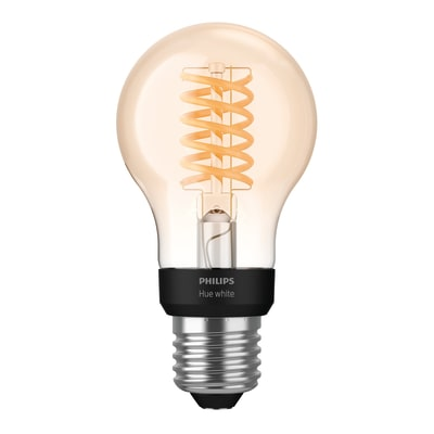 Lampadina smart lighting LED E27, Goccia, Ambra, Bianco, Luce calda, 7W=550LM (equiv 40 W), 150° , PHILIPS HUE