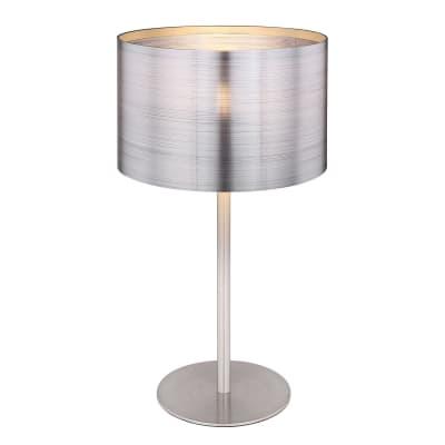 Lampada Da Comodino Argento.Lampada Da Tavolo Silver Argento In Metallo E14 Max 40w Ip20