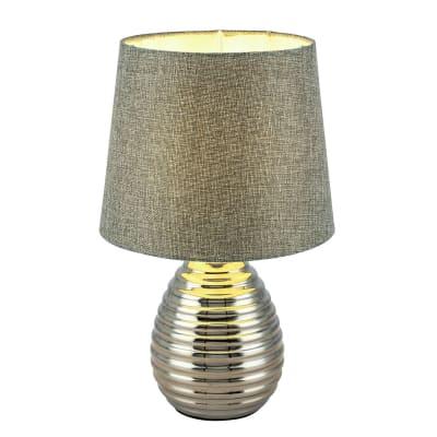 Lampada da tavolo Glamour Tracey grigio, in metallo, GLOBO