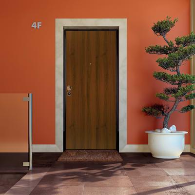 Porta blindata Termika noce L 90 x H 210 cm destra
