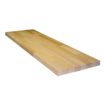 Tavola compensato di legno faggio 1° scelta L 100 x H 30 cm Sp 30 mm
