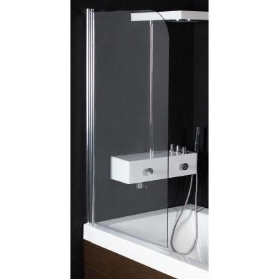 Parete vasca Altea in vetro di sicurezza 5 mm trasparente H 140 cm