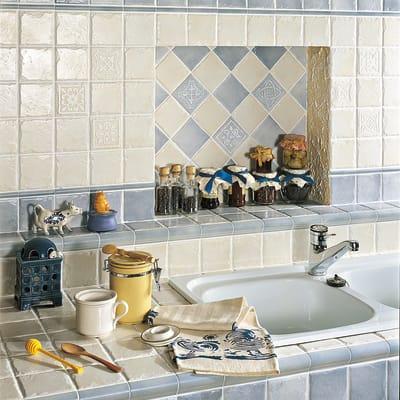 Piastrella Country L 10 x H 10 cm bianco prezzi e offerte online ...