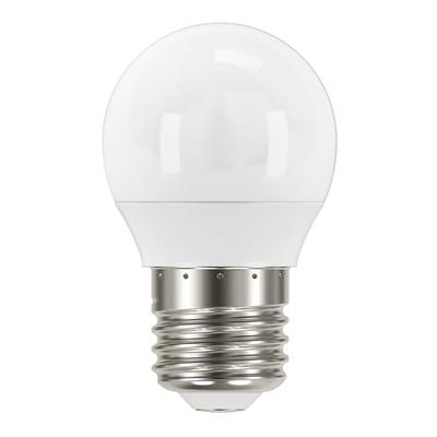 Lampadina LED, E27, Sferico, Opaco, Luce fredda, 5.5W=490LM (equiv 41 W), 220°