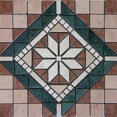 Piastrella decorativa Roma H 60 x L 60 cm multicolore