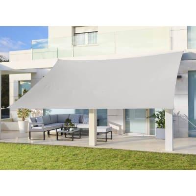 Vela ombreggiante rettangolare bianco 300 x 400 cm