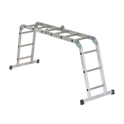 Scala snodata multifunzione GIERRE Multipla in alluminio per lavori fino a 4.3 m