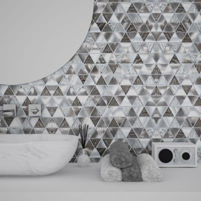 Mosaico Trinity silver H 30.4 x L 30.4 cm grigio/argento