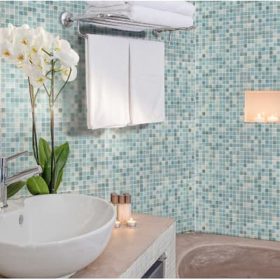 Mosaico Sky Chiffon20 H 31.8 x L 31.8 cm azzurro/bianco