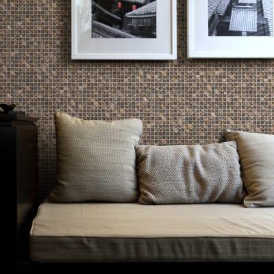 Mosaico Lumille Visone H 30 x L 30 cm marrone