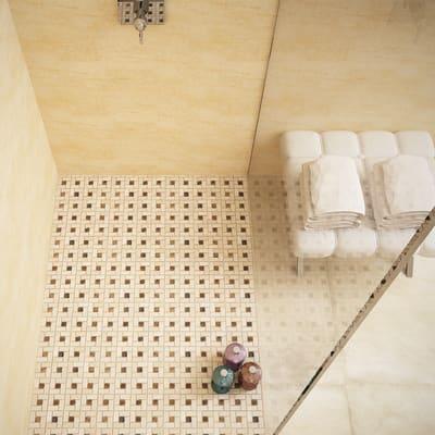 Mosaico Nido Pietracrema H 30.5 x L 30.5 cm bianco/beige