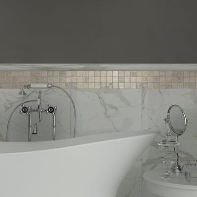 Mosaico Badges Cream H 30 x L 30 cm beige