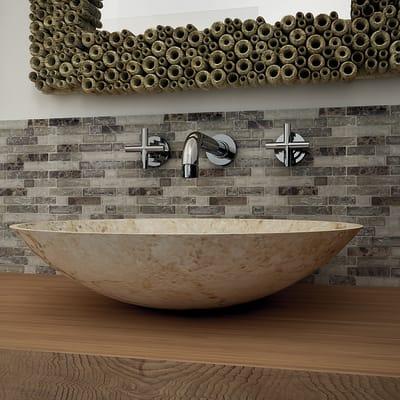 Mosaico Emperadore Craquele' H 30.5 x L 31.5 cm grigio/beige