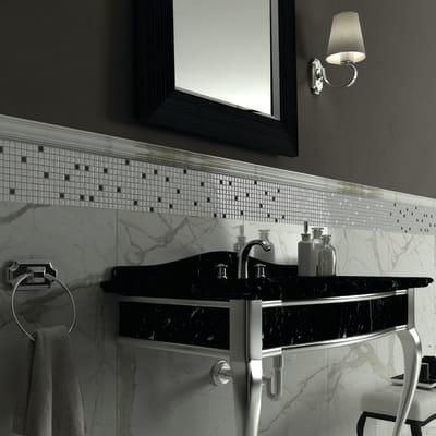 Mosaico Bianco Metal H 30 x L 30 cm bianco/argento