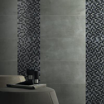 Mosaico Ardesia15 H 30 x L 30 cm nero/argento