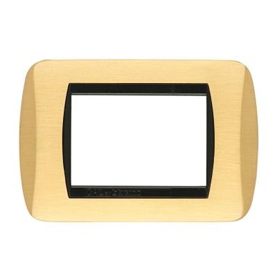 Placca Living International CAL 3 moduli oro satinato