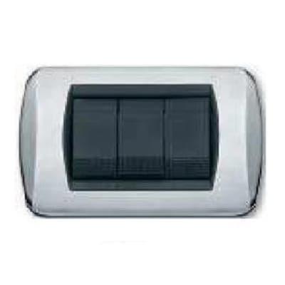 Placca CAL 3 moduli cromo lucido /satinato compatibile con living international