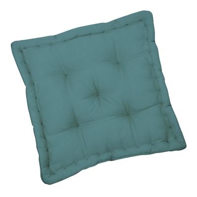 Cuscino da pavimento INSPIRE Elema verde acqua 40x40 cm Ø 0 cm