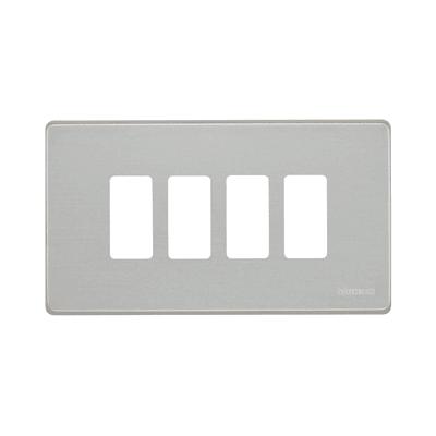 Placca BTICINO Magic 4 moduli alluminio
