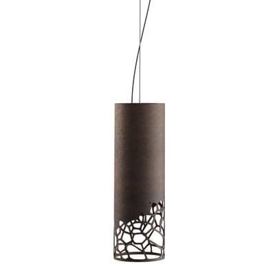 Lampadario Moderno Organic marrone in metallo, D. 10 cm, LUMICOM
