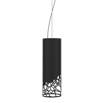 Lampadario Moderno Organic nero in metallo, D. 10 cm, LUMICOM