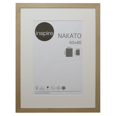 Cornice con passe-partout Inspire nakato rovere 60x80 cm