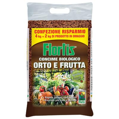 Concime granulare FLORTIS biologico orto-frutta 4+2 Kg