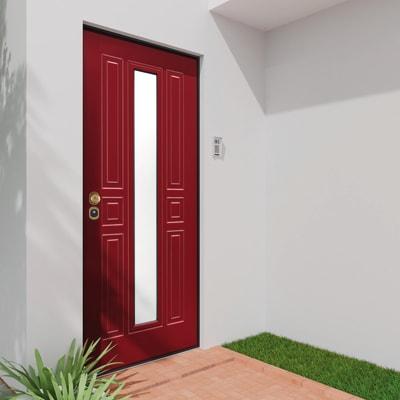 Porta blindata Mirror rosso L 90 x H 210 cm destra