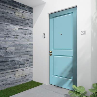 Porta blindata Miami turchese L 90 x H 210 cm destra