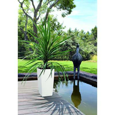 Vaso Cubico Color LECHUZA in plastica bianco H 75 , L 40 X P 40 cm  Ø 20 cm