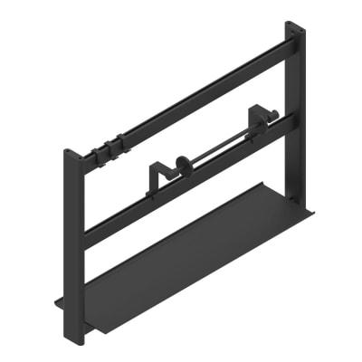 Barra sottopensile gancio nero P 220 cm x L 60 x H 400 mm