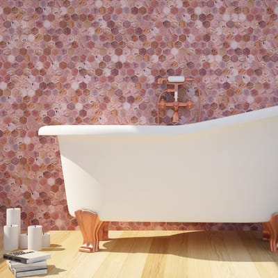 Mosaico H 28.5 x L 24.5 cm marrone