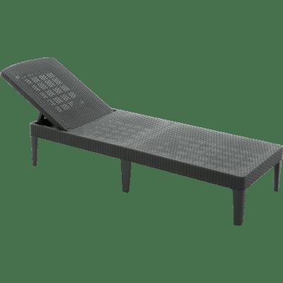 Sedia a sdraio pieghevole ALLIBERT Jaipur in polipropilene graphite
