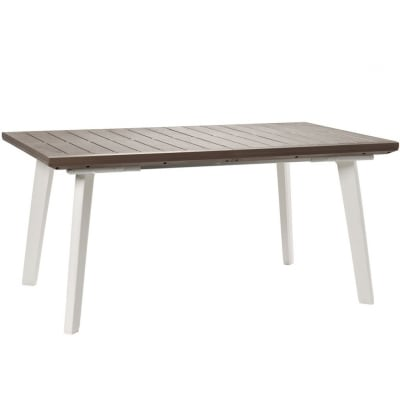 Tavolo da giardino allungabile  rettangolare TAVOLO ALLUNGABILE HARMONY KETER con piano in resina L 160 x P 100 cm