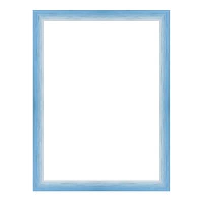 Cornice Bicolor azzurro<multisep/>bianco per foto da 50x70 cm