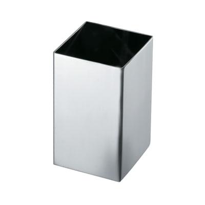 Bicchiere porta spazzolini Nemesia in inox grigio