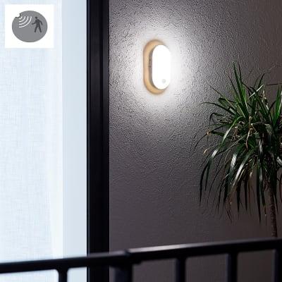 Applique Ezy LED integrato con sensore di movimento, in plastica, bianco, 15W 1500LM IP54 INSPIRE