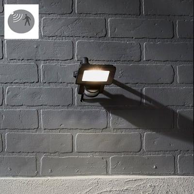Proiettore LED integrato con sensore di movimento in alluminio, antracite, 10W 900LM IP44 INSPIRE