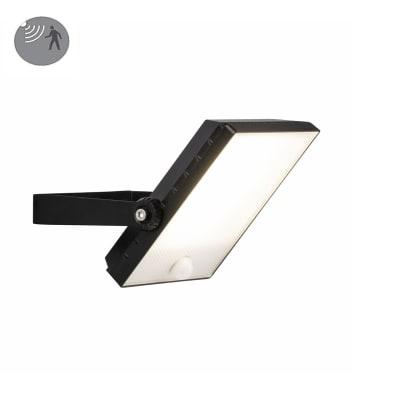 Proiettore LED integrato con sensore di movimento Dryden in metallo, nero, 30W 2400LM IP65 BRILLIANT