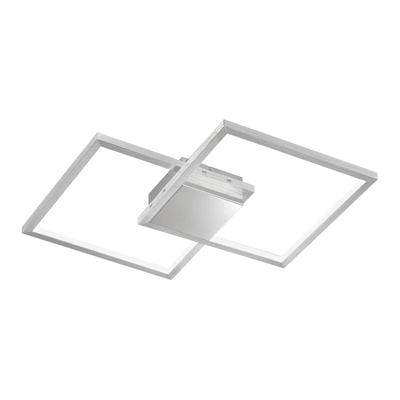 Plafoniera Manas LED integrato argento, in metallo, 2  luci WOFI