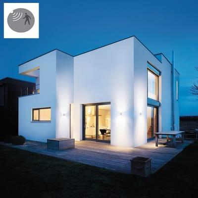 Applique L910 LED integrato con sensore di movimento, in plastica, argento, 11W 990LM IP44 STEINEL