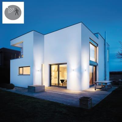 Applique Updown LED integrato con sensore di movimento, in plastica, grigio, 11W 990LM IP44 STEINEL