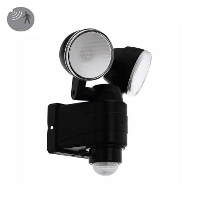Proiettore LED integrato con sensore di movimento Csabas in policarbonato, nero, 7.5W 800LM IP44 EGLO