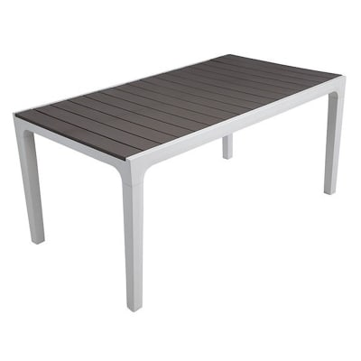 Tavolo da pranzo per giardino rettangolare Harmony KETER con piano in resina L 90 x P 160 cm
