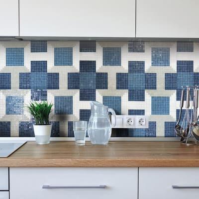 Mosaico Optical Blue H 31.8 x L 31.8 cm blu
